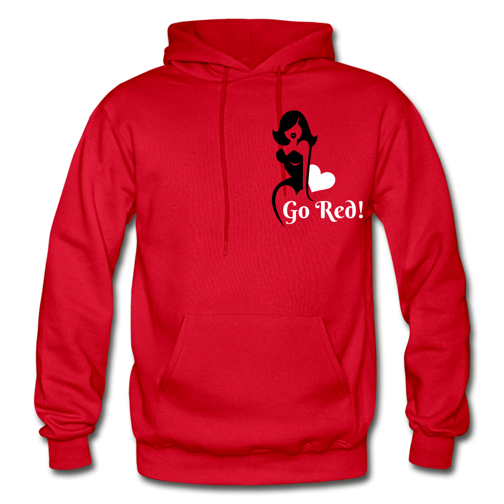 Go Red! Adult Hoodie - red