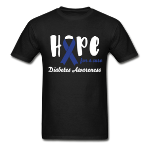 Hope For a Cure Diabetes T-Shirt - black