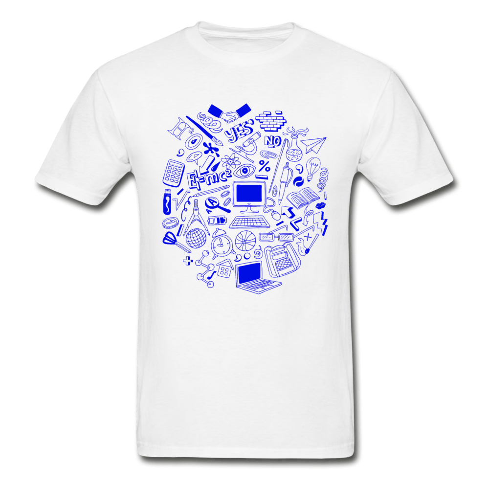 Math Teacher Graphic T-Shirt - white