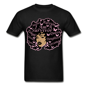 I am A Survivor Breast Cancer Awareness T-Shirt - black