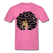 Load image into Gallery viewer, I am A Survivor Breast Cancer Awareness T-Shirt - hot pink