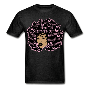 I am A Survivor Breast Cancer Awareness T-Shirt - charcoal gray