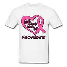Load image into Gallery viewer, With My Family We Can Beat It Breast Cancer Adult T-Shirt - white