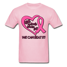 Load image into Gallery viewer, With My Family We Can Beat It Breast Cancer Adult T-Shirt - light pink