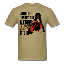 Load image into Gallery viewer, When Live Throws You a Curve T-Shirt (Unisex) - khaki