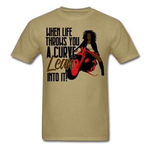 When Live Throws You a Curve T-Shirt (Unisex) - khaki