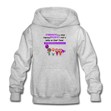 Load image into Gallery viewer, Support Childhood Epilepsy Youth Hoodie - heather gray