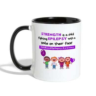 Childhood Epilepsy Mug - white/black