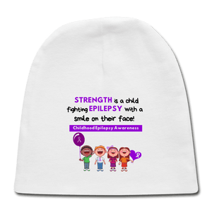 Childhood Epilepsy Baby Cap - white