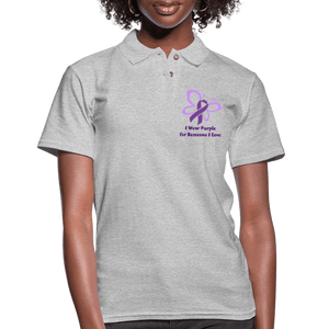 I Wear Purple for Someone Love Women's Shirt - heather gray