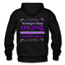 Load image into Gallery viewer, Stronger Then Epilepsy Adult Hoodie - black