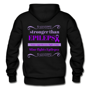 Stronger Then Epilepsy Adult Hoodie - black