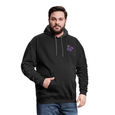 Epilepsy Awareness Hoodie - black/asphalt