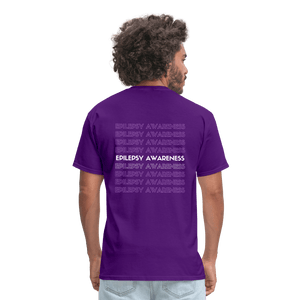 """We see you Epilepsy. You're goin' DOWN!"" T-Shirt - purple"