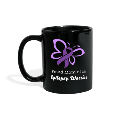 Proud Mom of an Epilepsy Warrior Full Color Mug - black