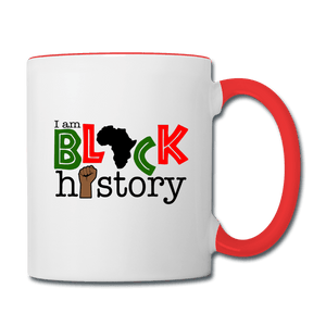 I am Black History Coffee Mug - white/red