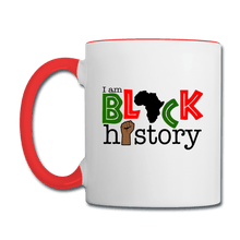 Load image into Gallery viewer, I am Black History Coffee Mug - white/red