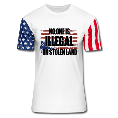 No One is Illegal on Stolen T-Shirt - white