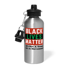 Load image into Gallery viewer, Black Lives Matter Water Bottle - silver