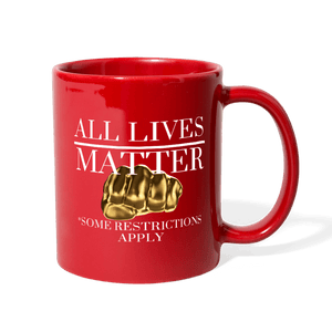 All Lives Matter Mug - red