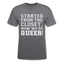 Load image into Gallery viewer, Started From the Closet Queer Classic T-Shirt - mineral charcoal gray