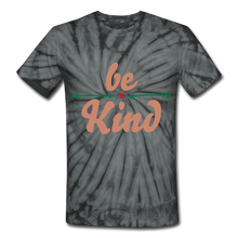 Load image into Gallery viewer, Be Kind Tie Dye T-Shirt - spider black