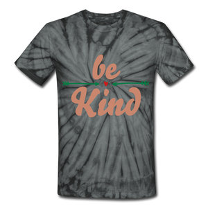 Be Kind Tie Dye T-Shirt - spider black