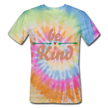Load image into Gallery viewer, Be Kind Tie Dye T-Shirt - rainbow