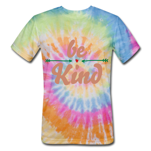 Be Kind Tie Dye T-Shirt - rainbow