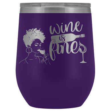 Wine Is Fine Wine Tumbler with Lid - Coach Rock