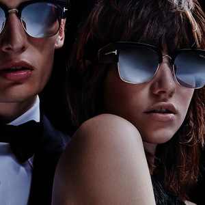 couple wearing Tom Ford sunglasses