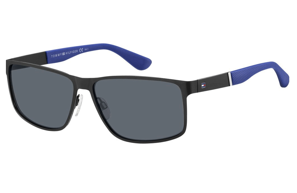 tommy hilfiger mens sunglasses black and blue