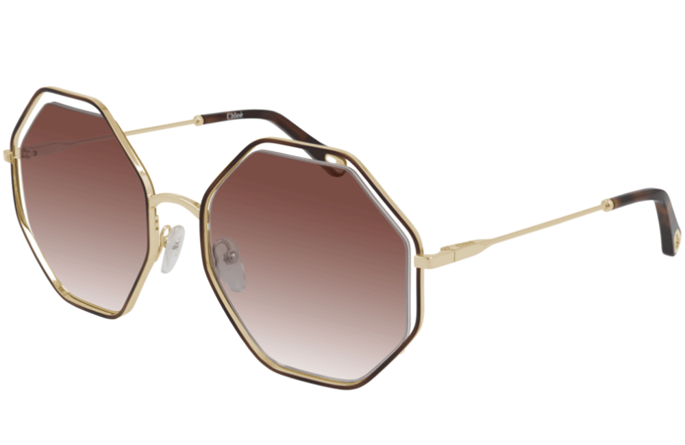 Town Centre Pharmacy  004 Gold/ Brown Gradient Chloé CH0046S Ladies Sunglasses