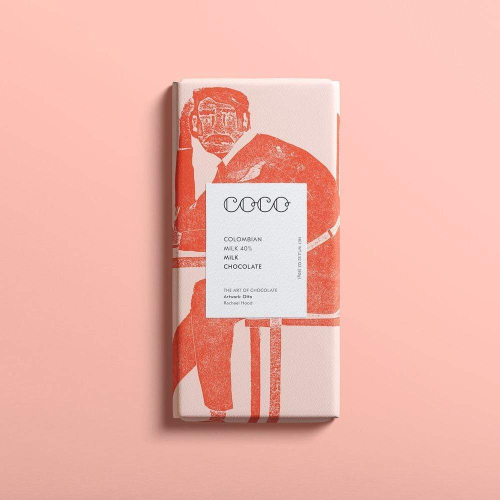 Coco Chocolatier christmas gift ideas COCO Colombian Milk 40% Milk Chocolate