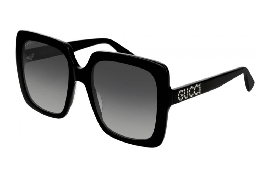 Gucci sunglasses 001 Black frame with brown gradient lens Gucci Big Square GG00418S Sunglasses