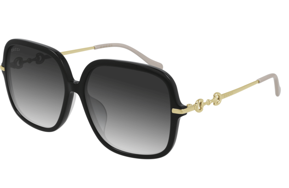 Gucci sunglasses 001 Black / Gold frame Gucci GG0884SA Ladies Sunglasses
