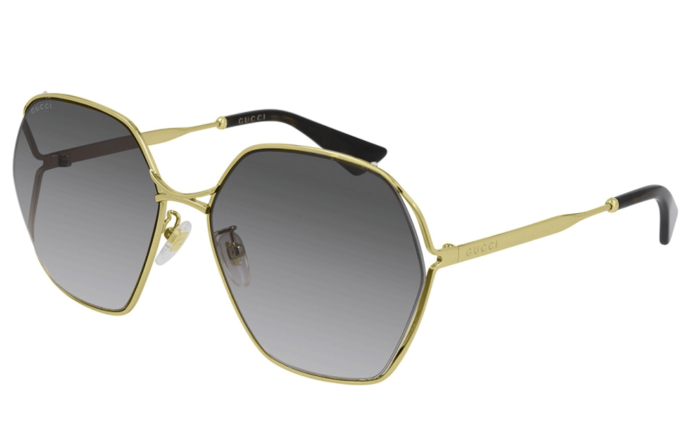 Gucci sunglasses 001 Gold/Grey lens Gucci GG0818SA Ladies Sunglasses