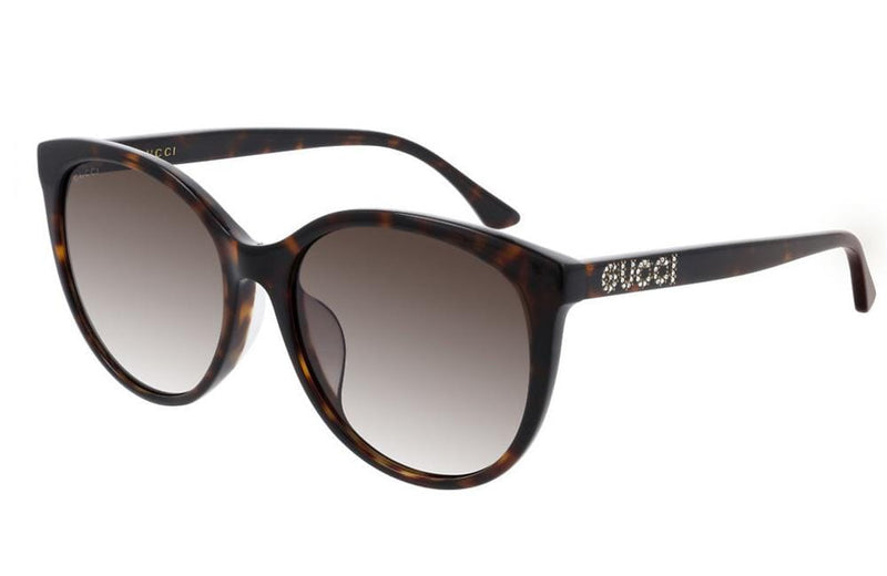 Gucci sunglasses Gucci GG0729SA 002 Sunglasses with Gucci written on arm with crystals