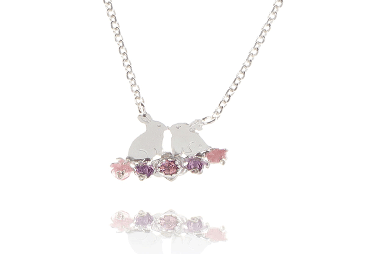 Jewellery jewellery Amanda Coleman Kissing Bunnies & Flowers Necklace