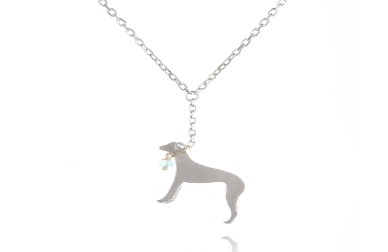 Jewellery jewellery Silver Amanda Coleman Whippet on a Lead Necklace