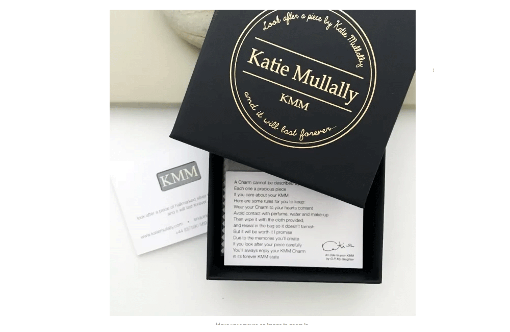 Katie Mullally jewellery Katie Mullally Small Yellow Gold Plated Wishbone