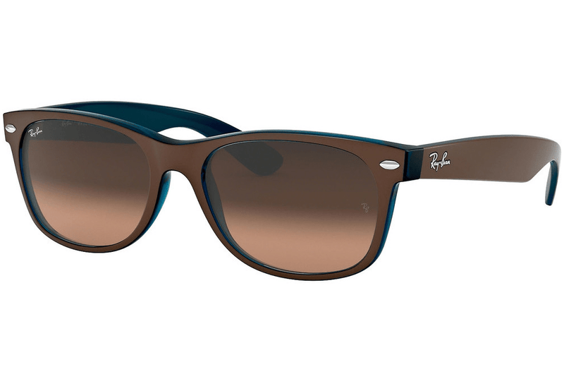 Ray-Ban sunglasses 55mm / 6310/A5 matt Chocolate On Opal Blue/brown Ray-Ban New Wayfarer Sunglasses RB2132 55mm