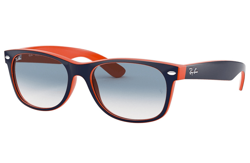 Ray-Ban sunglasses 55mm / 789/3f navy/orange Ray-Ban New Wayfarer Sunglasses RB2132 55mm