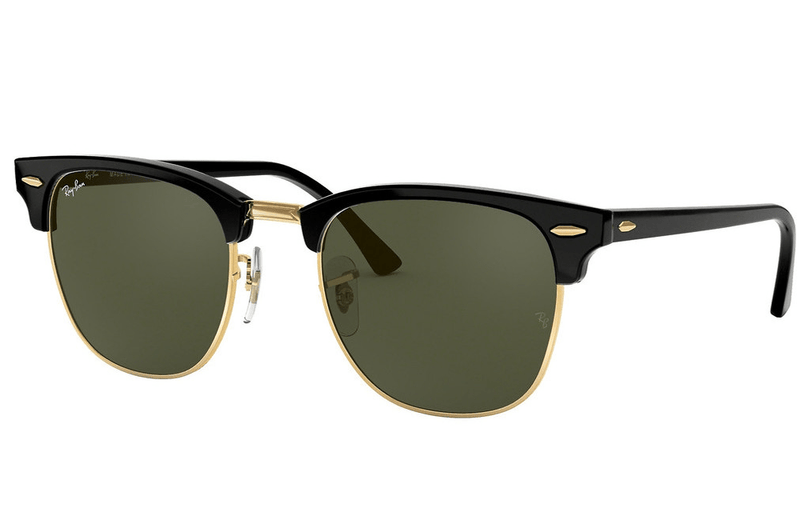 Ray-Ban sunglasses W0365 Black/Gold Ray-Ban Clubmaster  Sunglassses RB3016