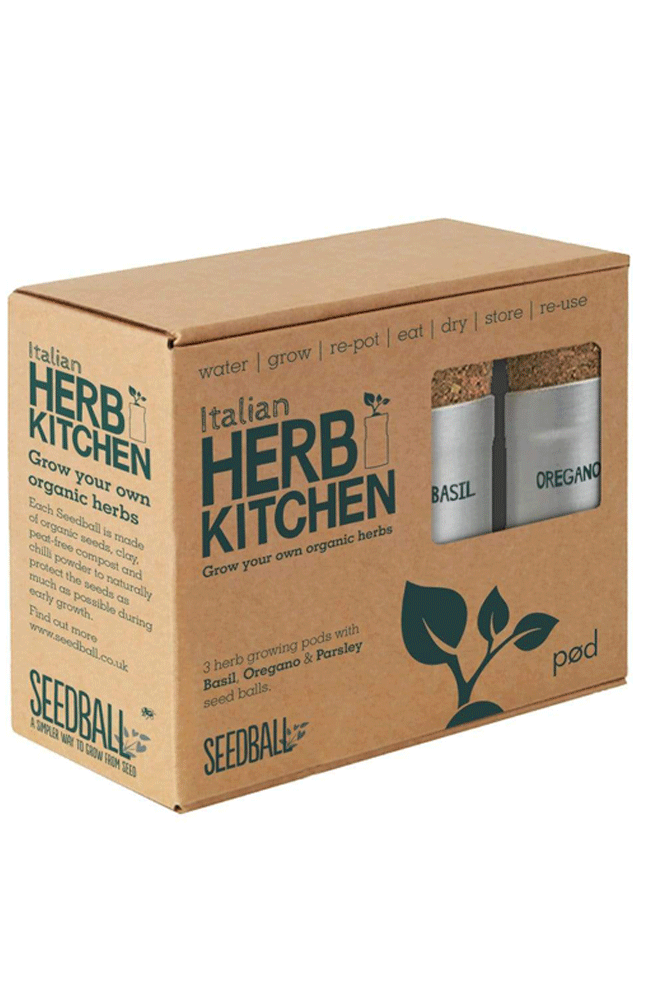 SEEDBALL christmas gift ideas Italian Herb Kitchen