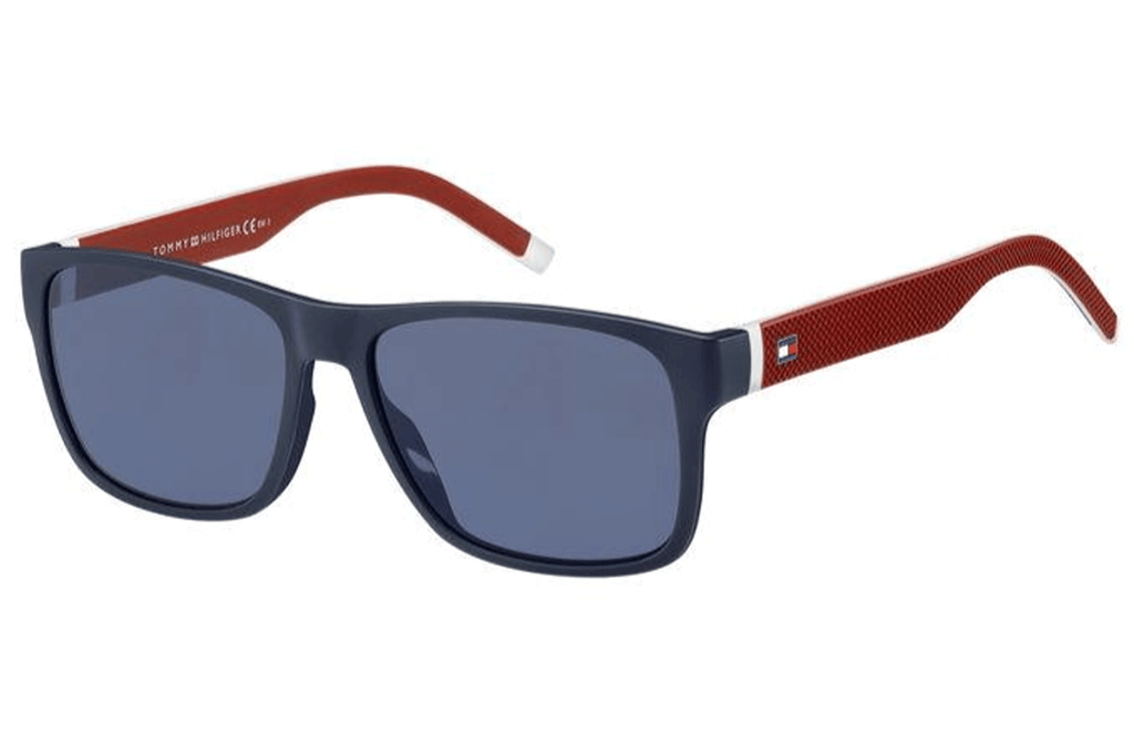 Tommy Hilfiger Navy and red mens sunglasses