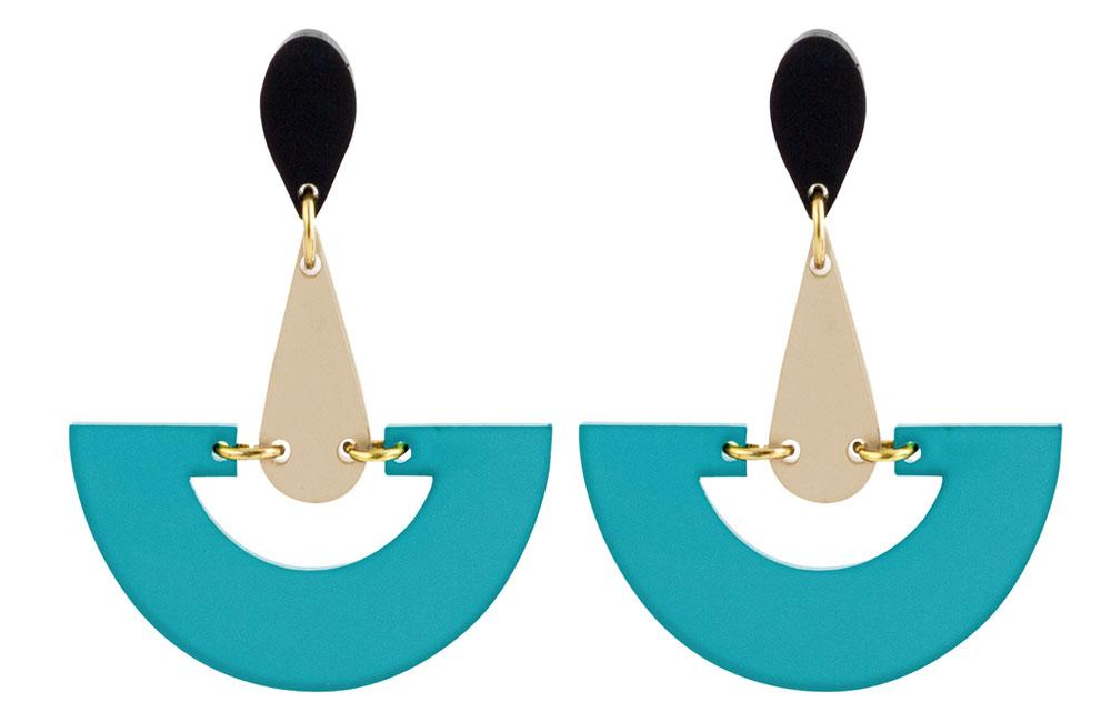 Toolally jewellery Toolally Fan Azure Earrings