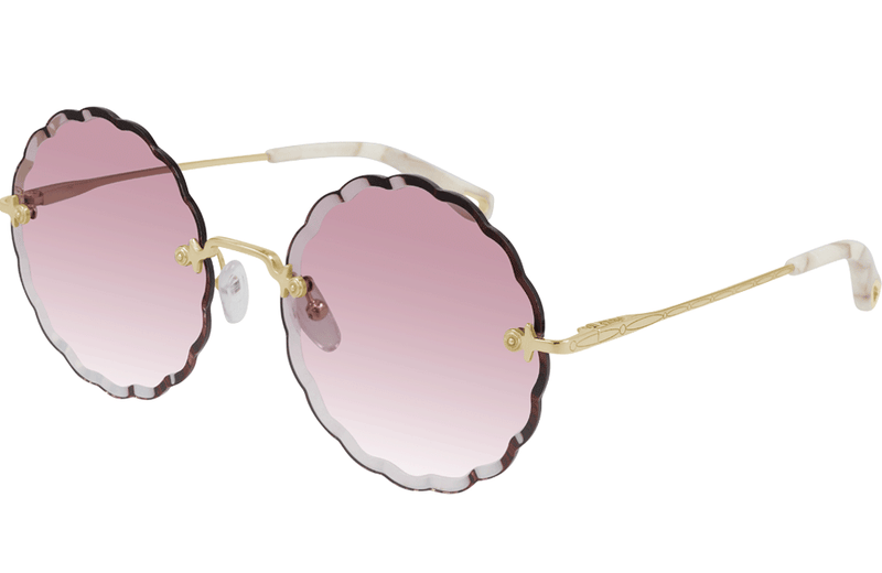 Chloe flower shaped sunglasses in pink
