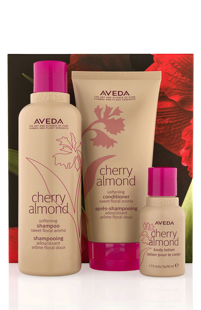 Town Centre Pharmacy  Aveda - Cherry Almond' Softening Hair & Body Trio Gift Set