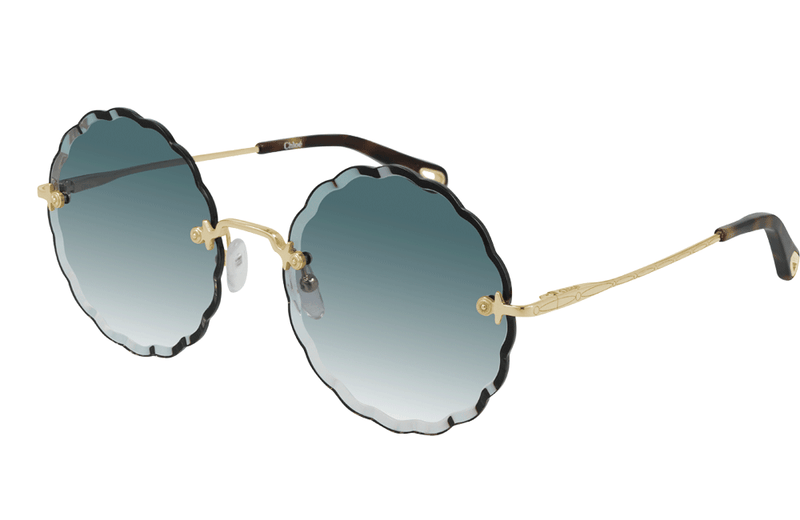 Chloe flower shaped sunglasses in blue